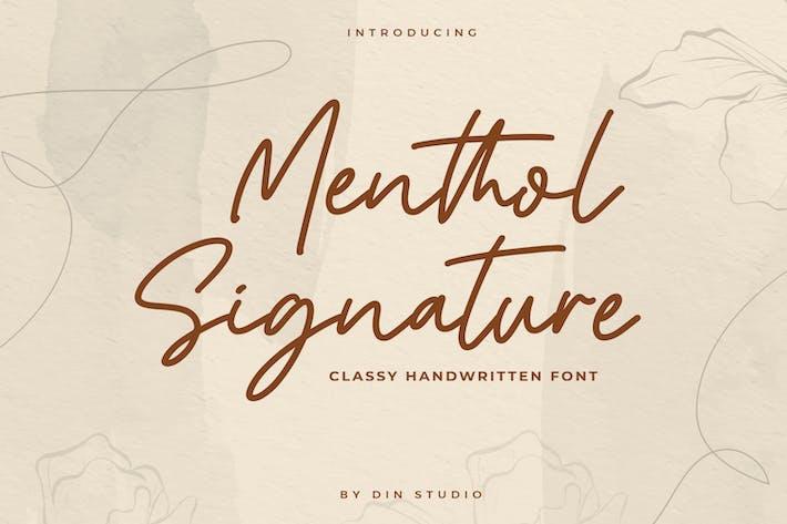 Thumbnail for Mentol Signature - Monoline Font