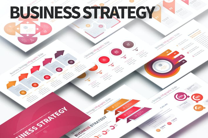 Thumbnail for Business Strategy - PowerPoint Infographics Slides