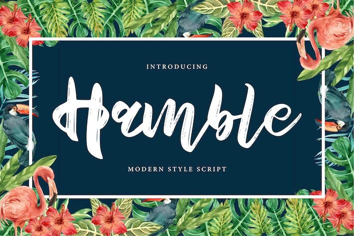 Thumbnail for Hamble | Modern Style Script Font