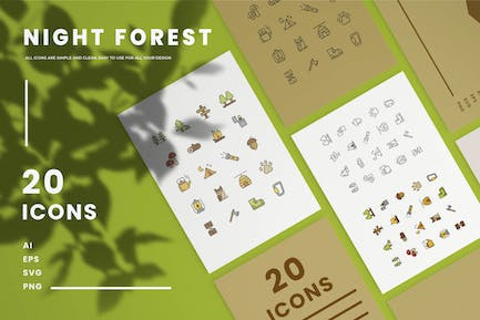 Night Forest - Icons