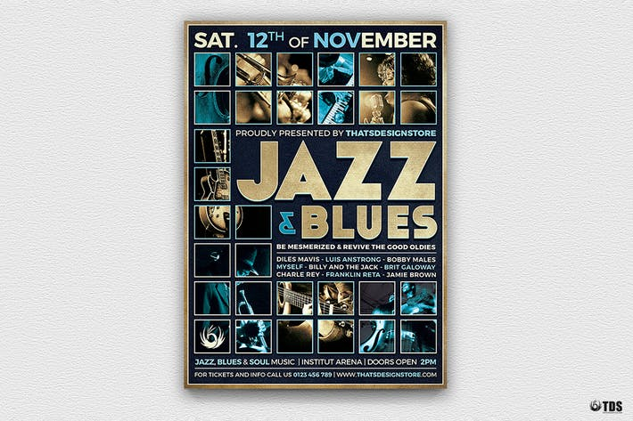 Thumbnail for Jazz and Blues Flyer Template