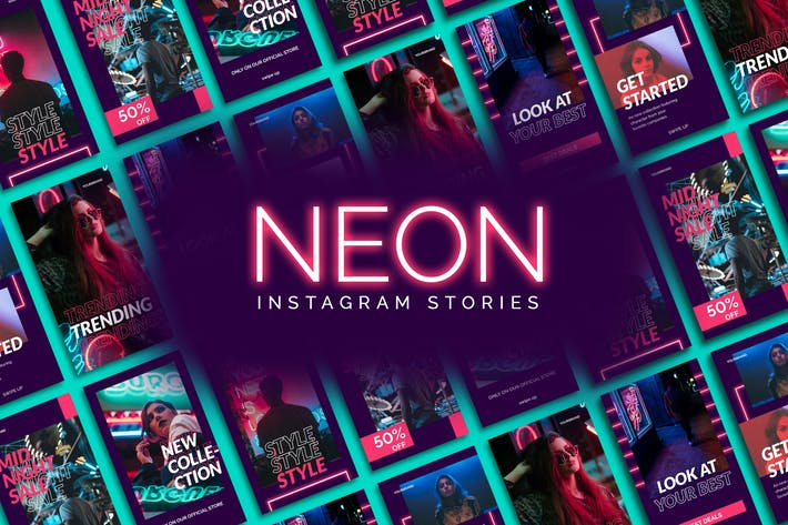 Thumbnail for Neon Instagram Geschichten