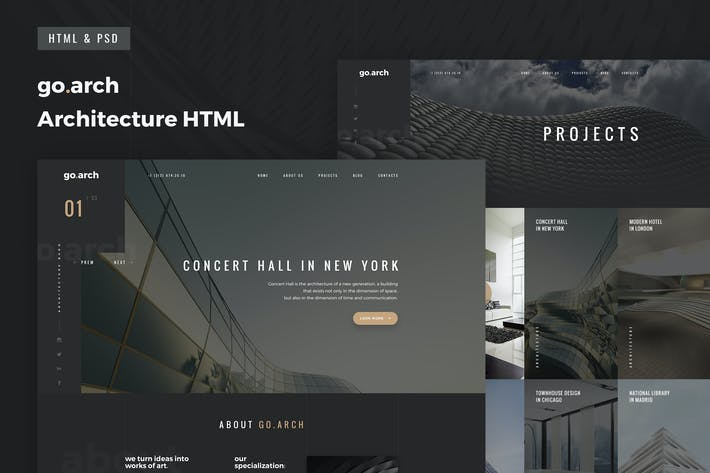 Thumbnail for go.arch - Multipage Architecture & Interior HTML