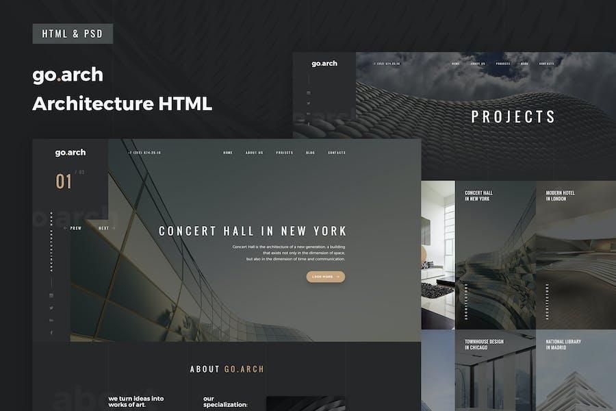 go.arch - Multipage Architecture & Interior HTML