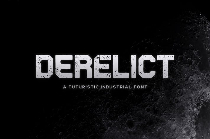 Cover Image For Derelict Typeface