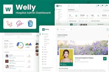 Welly - Hospital Admin Dashboard Laravel 8