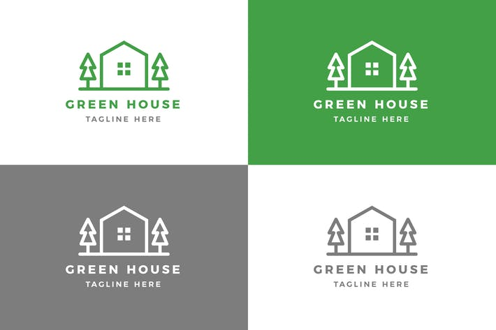 Thumbnail for Green House - Logo Template