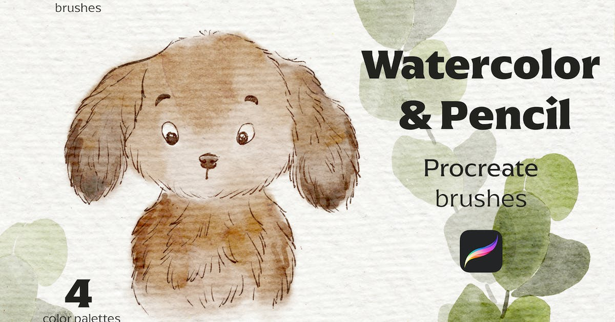 Download Watercolor&Pencil Procreate brushes by jenteva