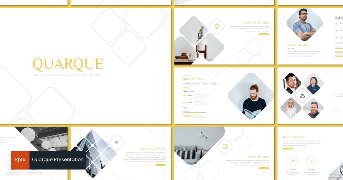 Download Quarque - Powerpoint Template by inspirasign