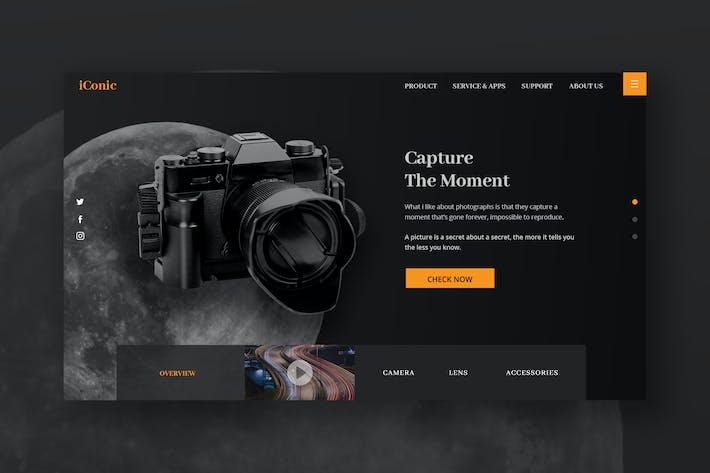 Thumbnail for Camera Hero Header PSD-Vorlage