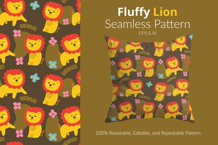 Flauschiges Löwen-Muster