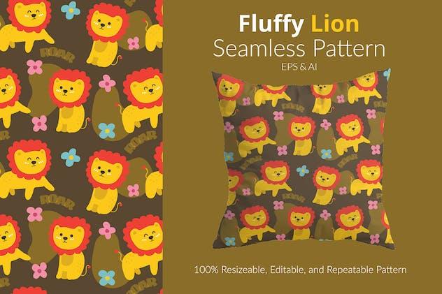 Fluffy Lion Pattern