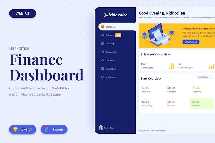 Thumbnail for Finance Dashboard UI Kit
