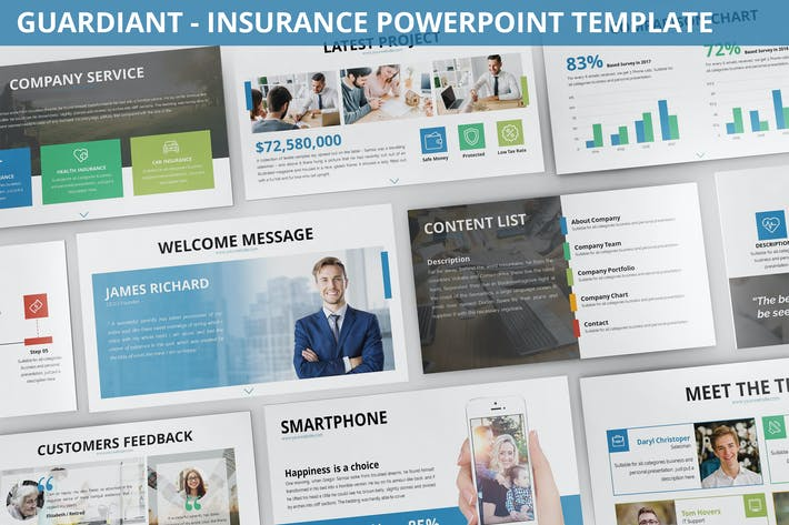 Thumbnail for Guardiant - Insurance Powerpoint Template