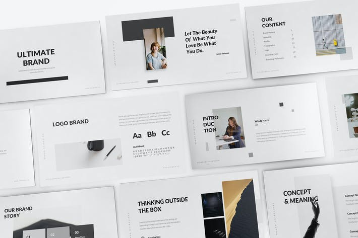 Thumbnail for Ultimate Brand Guideline Powerpoint Template