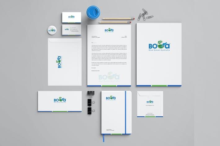 Thumbnail for Boca Branding Identity & Stationery Pack