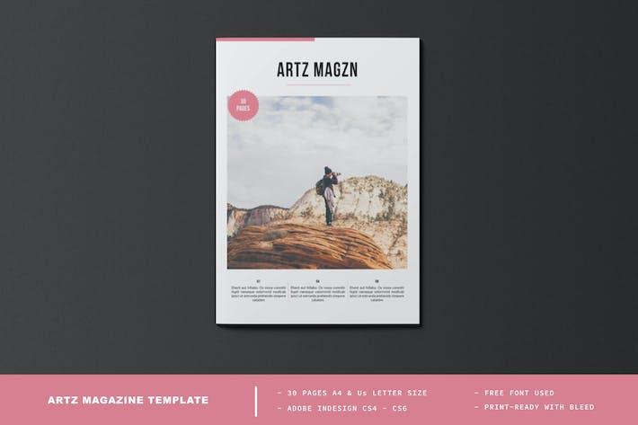 Thumbnail for ARTZ Magazine Template