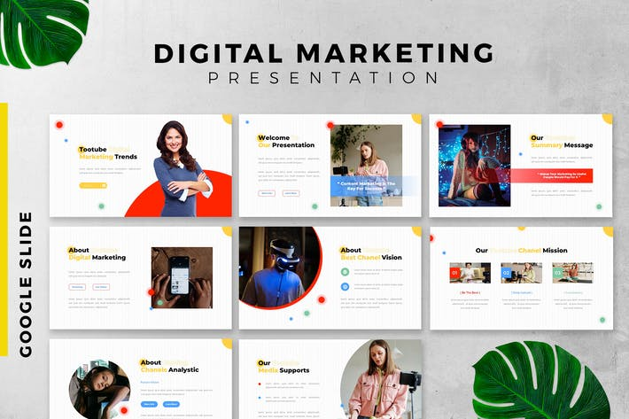 Digital Marketing Google slide presentation