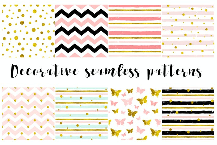 Cover Image For Decorative Seamless Patterns
