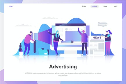 Advertising and Promo Flat Concept
