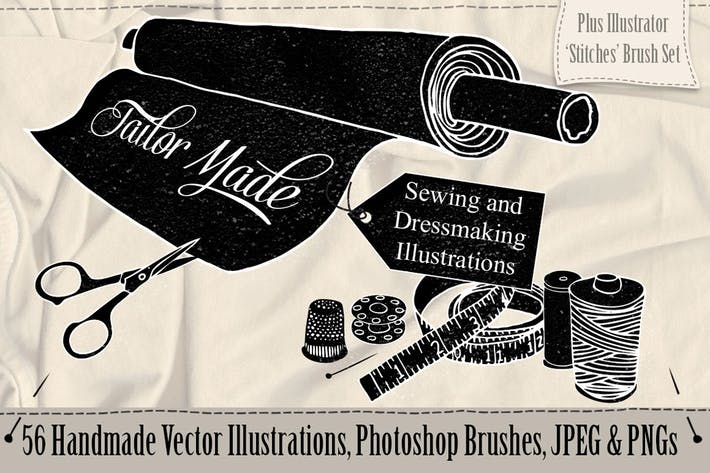 Thumbnail for Tailor Made Sewing & Dressmaking Illustrations