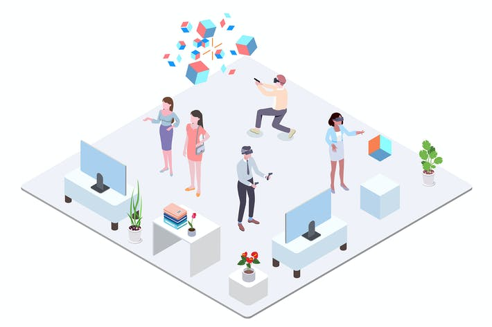Thumbnail for VR Technology Isometric Illustration - G1