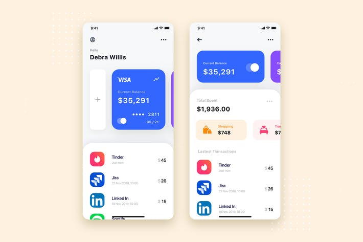 Thumbnail for Financial App UI Kit