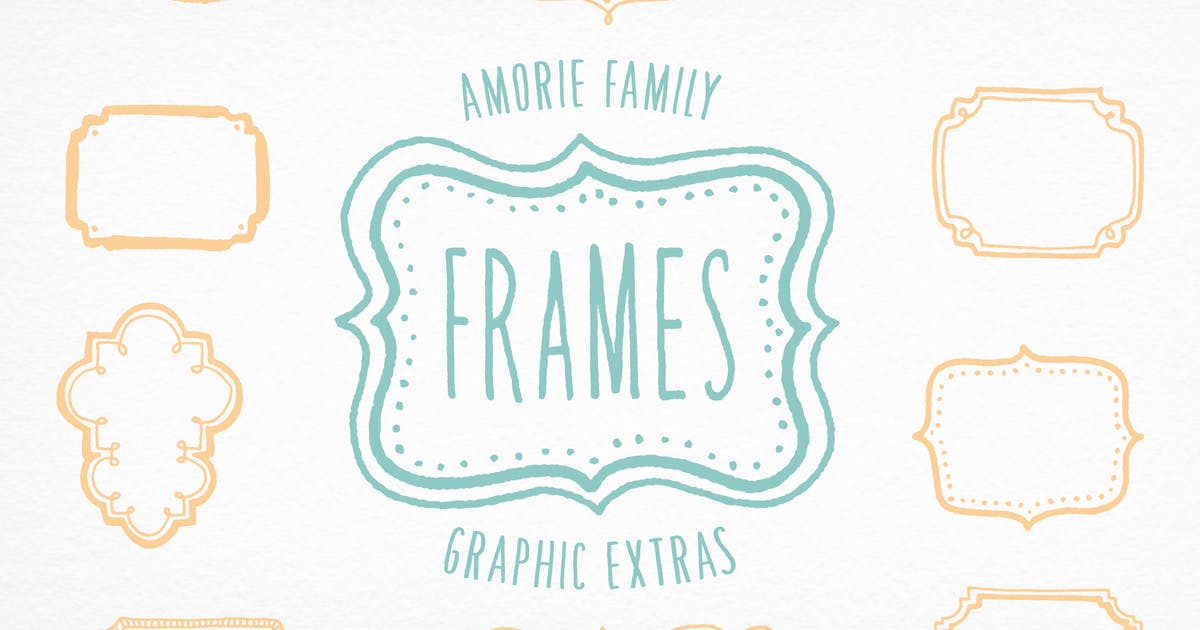 Download Amorie Font Extras - Frames by kimmydesign