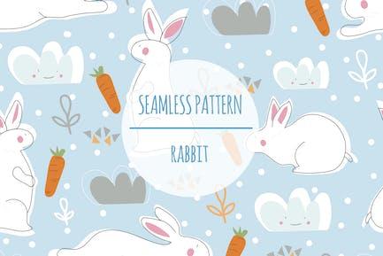 Kaninchen — Nahtloses Muster
