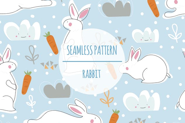 Rabbit – Seamless Pattern - product preview 0