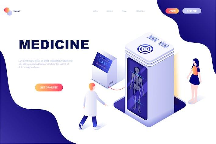 Vorlage für isometrische Zielseite für Medizin