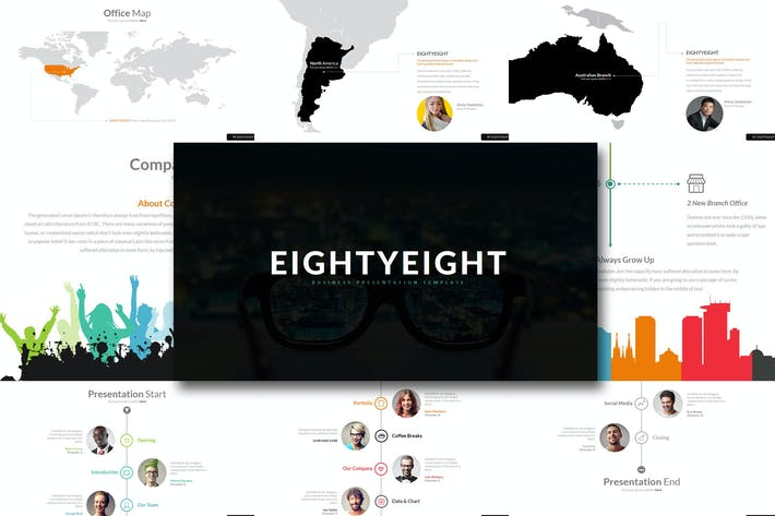 Thumbnail for Eighty 8 - Powerpoint Template
