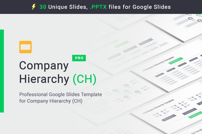Cover Image For Company Hierarchy Google Slides