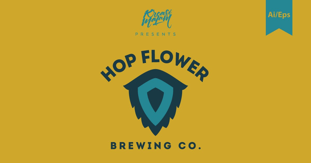 Download Hop Flower Logo Template by Ijajil