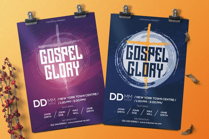 Thumbnail for Gospel Music Flyer