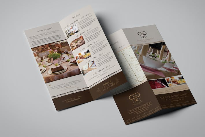 Thumbnail for Fine Dining Restaurant/ Take-out Brochure Template