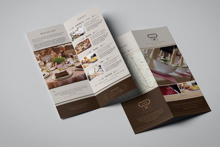Thumbnail for Fine Dining Restaurant/ Take Out Broschüre Vorlage