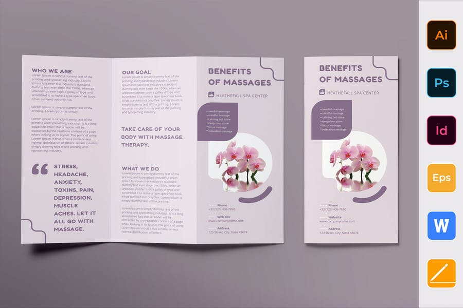 Massage Brochure Trifold