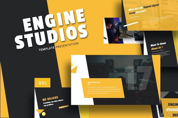 Engine Studio - Music Google Slides Template