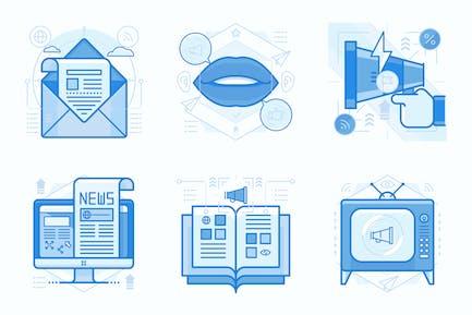Advertisement and Marketing UI UX Illustrations