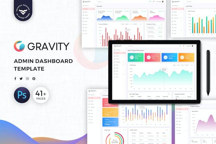 Thumbnail for Gravity Admin Dashboard UI Kit