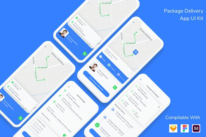 Thumbnail for Package Delivery App UI Kit