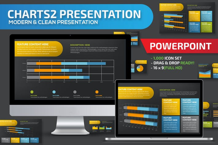 Data Chart Powerpoint Presentation Template