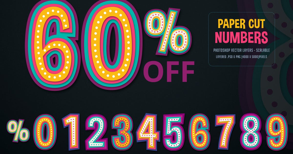 Download Paper Cut / Discount Numbers by creativeartx