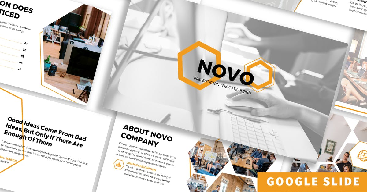 Download Novo - Business Google Slide Template by Blesstudio