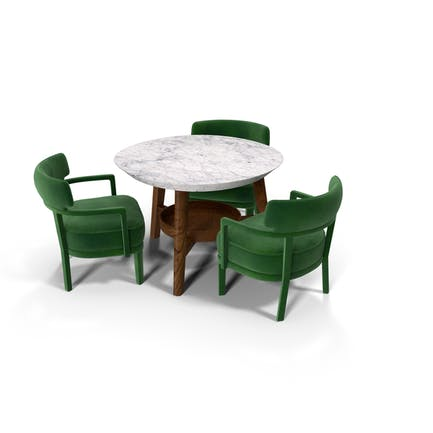 Dining Table Set for 3 Persons