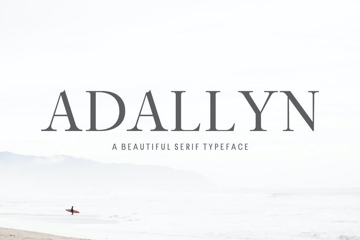 Cover Image For Adallyn Con serifa Font Family Pack
