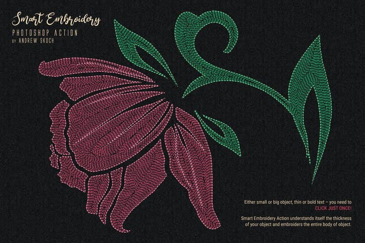 Thumbnail for Smart Embroidery - Photoshop Action