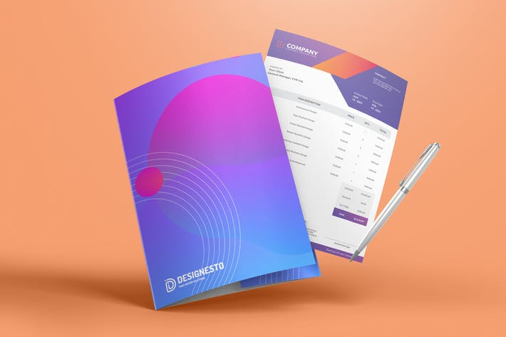 Thumbnail for Purple Invoice – Invoice Template