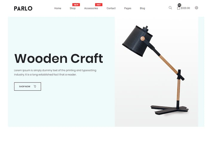 Cover Image For Parlo – eCommerce Bootstrap 4 Template